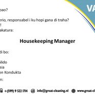 VACATURE : Housekeeping-Manger